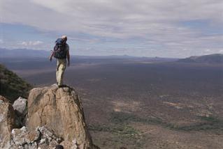 view over tsavo west national park, kenya
